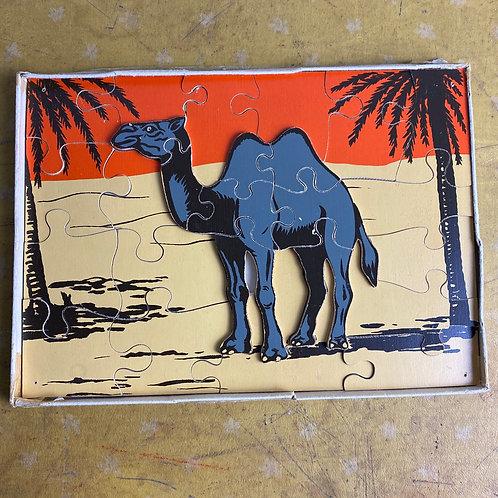 Vintage Wooden Camel Jigsaw