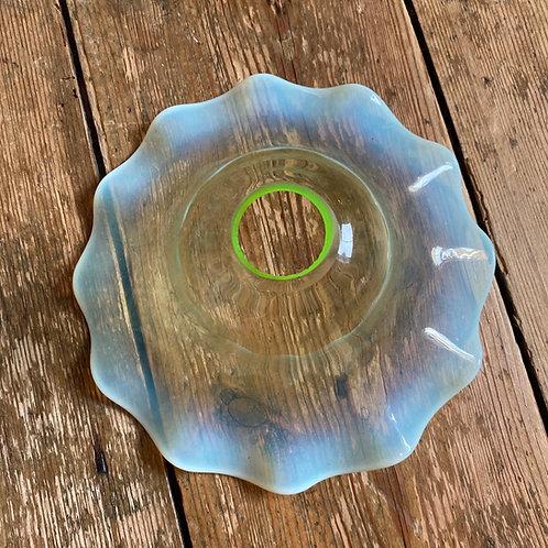 Handblown Shallow Vaseline Glass Shade