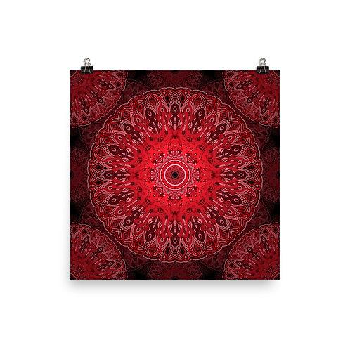4V21 Spectrum Red   Matte finish Print