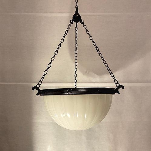 Antique English Moonstone Pendant Light