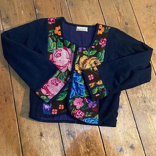 Vintage Embroidered Guatemalan Jacket
