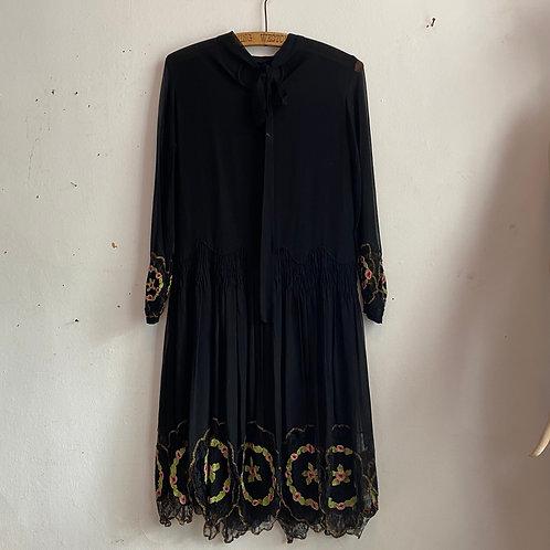 1920's Chiffon Flapper Dress