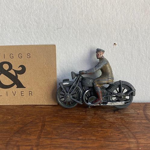 Vintage Lead Motorcyclist