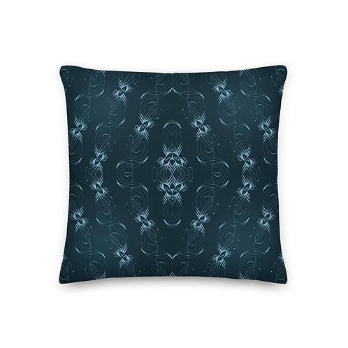 36 6E Flowing Flora Submerged Premium Pillow