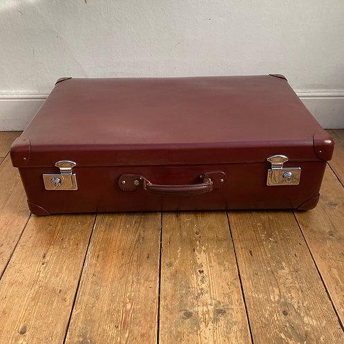 Vintage Maroon Globe Trotter Suitcase SOLD