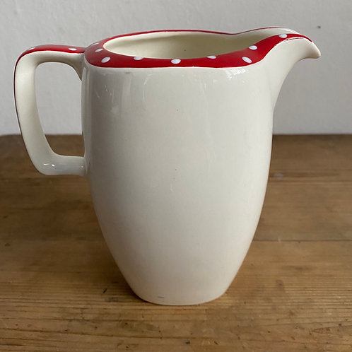 Tall Stylecraft Red and White Polka Dot Jug
