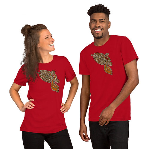 The Dove Gold Short-Sleeve Unisex T-Shirt