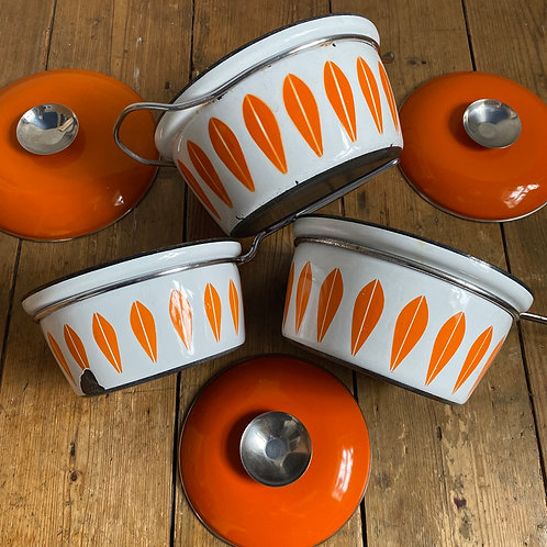 Set of Three Cathrine Holm Pans