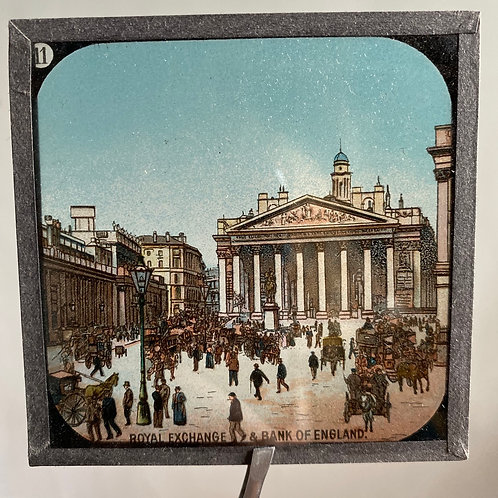 Antique Boxed Set Magic Lantern Slides Views of London