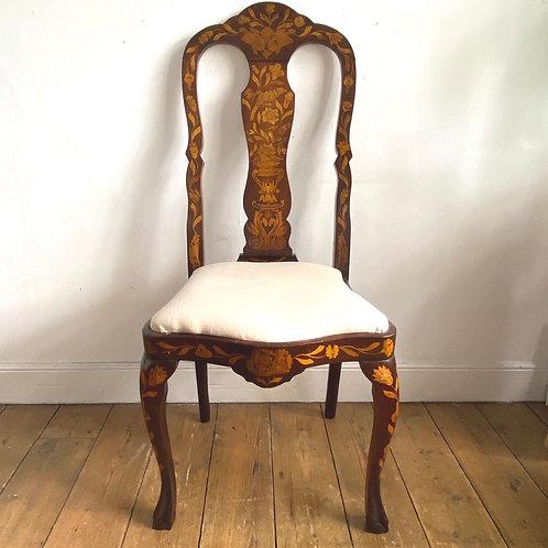 C18th Dutch Marquetry Side Chair