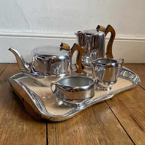 Vintage Piquotware Tea Set and Tray