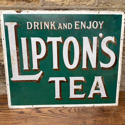 Antique Enamel Tea Sign
