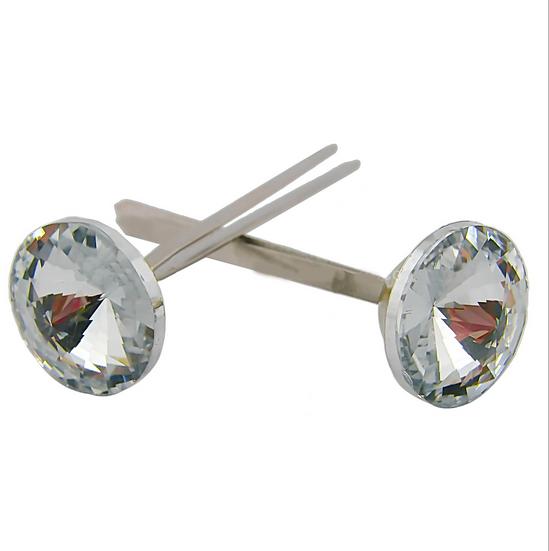 Boutons à deux broches en cristal