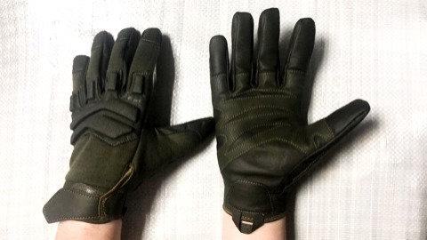 Перчатки тактические с кожаными вставками
