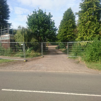 And so it begins!!  Site Fencing goes up