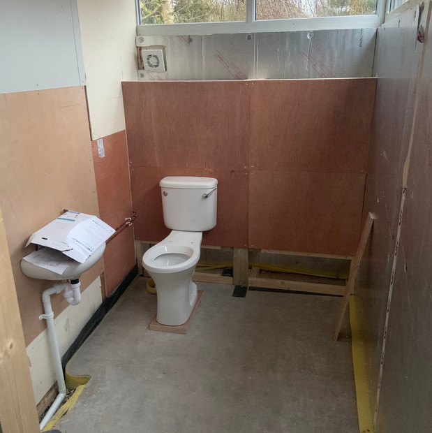 New accessible toilet - with plumbing!