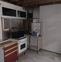 Trial fit of the kitchen units