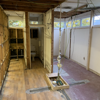 Toilets before construction of new store wall
