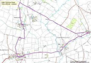 Map for Walk 3: The Roman Road