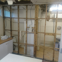 Internal demolition and drying out