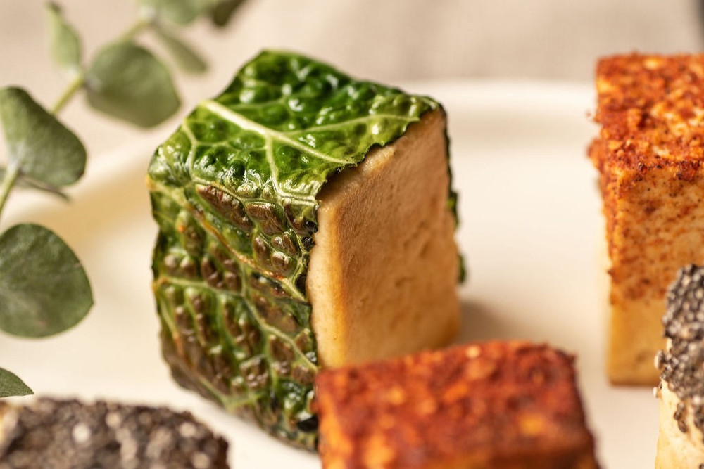 Try out this delicious appetiser, the happy maple caramelised tofu