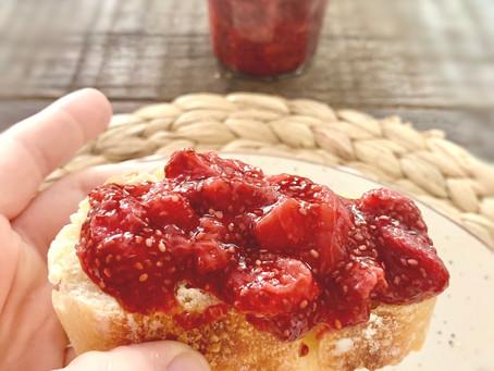 Confiture de fraises à 3 ingrédients