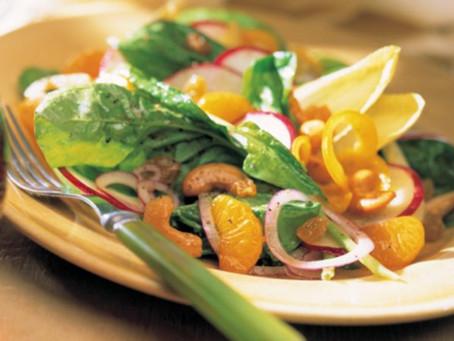 Salade d'automne, vinaigrette à l'érable