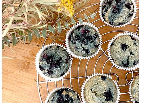 Flourless Blueberry Muffins