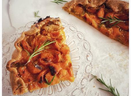 Tarte aux abricots et romarin avec happy maple