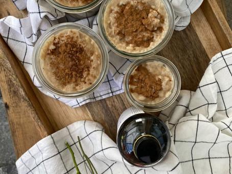 Riz au lait de coco & sirop d'érable