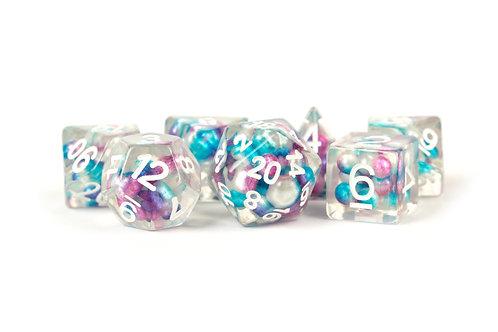 Set de dés en résine Pearls Multicolor