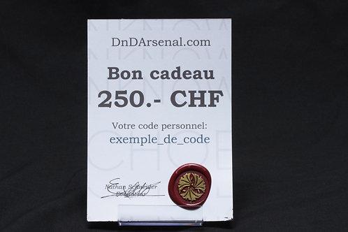 Bon cadeau - 250 CHF