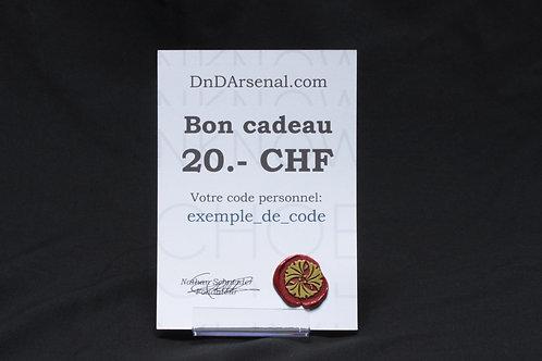 Bon cadeau - 25 CHF