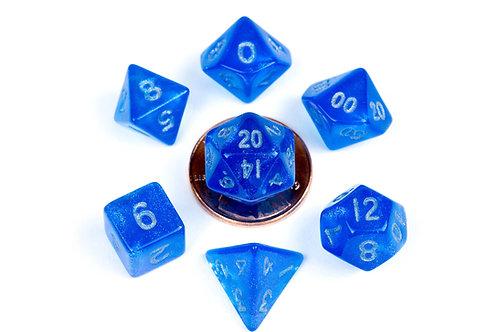Set de mini dés en résine Stardust Bleu