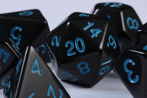 Set de Dés en Résine Opaque Bleu