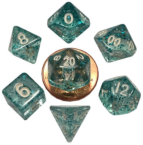 Set de mini dés en résine Ethéré Bleu