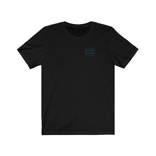 T-Shirt Version 2 Noir, Logo bleu