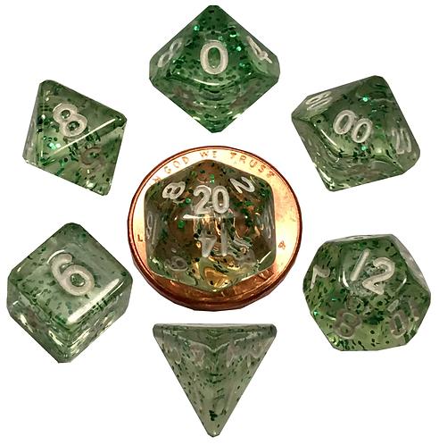 Set de mini dés en résine Ethéré Vert