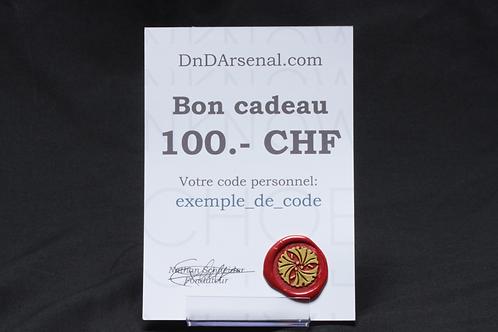 Bon cadeau - 100 CHF