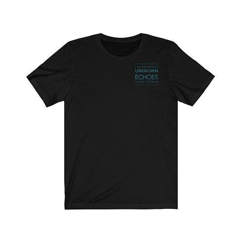 T-Shirt noir Version 1, logo bleu électrique