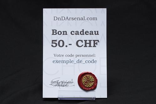 Bon cadeau - 50 CHF