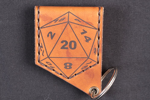 "Porte-clés ""The Dice Bearer D20"" - Paris Crafts - Fait Main"