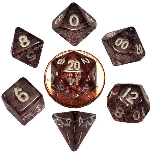 Set de mini dés en résine Ethéré noir