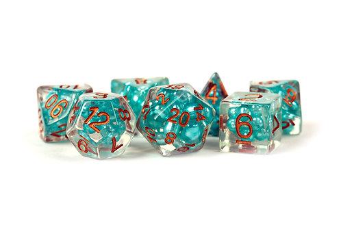 Set de dés en résine Pearls Bleu Sarcelle