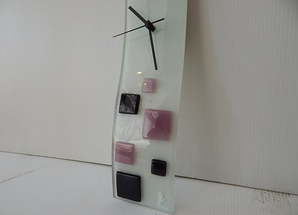 Contemporary Carneol Glass Wall Clock