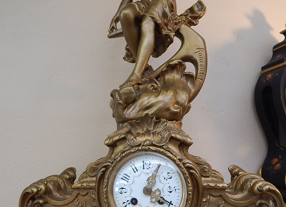French Statue Mantle Clock