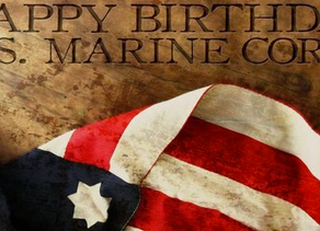 November 10th, 2019 Marks 244 Years!  Happy Birthday USMC!
