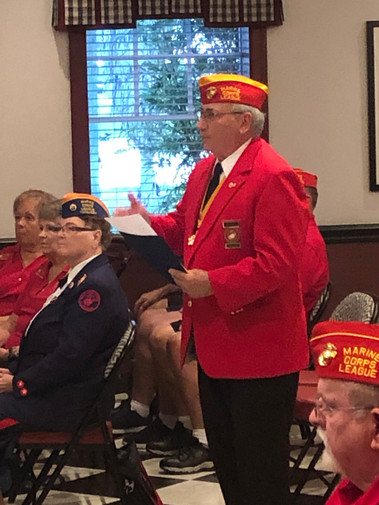 "Past Commandant, Department of Florida & Past ""Pack Leader"" Lou Calleja Ceremonial Sgt-At-Arms"