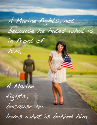 A Marine Fights...