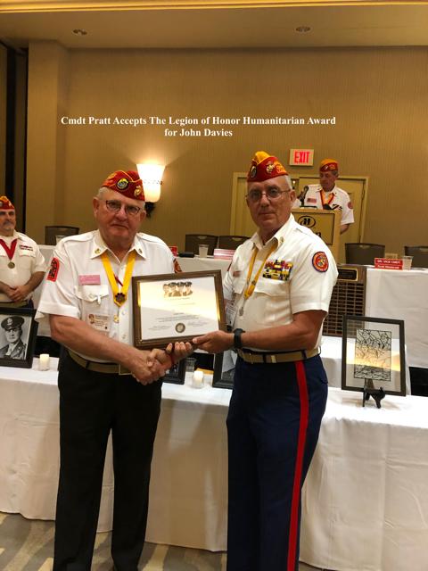 The Legion of Honor Award for John Davies.